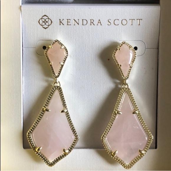 7f5370a64d1ec Kendra Scott Pink Gold Alexa Drop Earrings NWT